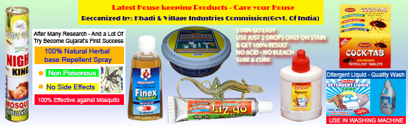 House keeping products like Fabrics Stain Remove,Magic Shiner,detergent liquid,