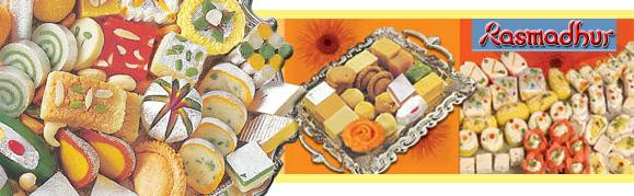 Rasmadhur's famous sweets and Namkeens available for online shopping at best buy from india
